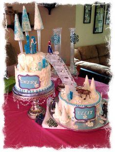 Disney's Frozen themed cake #frozen themed cake