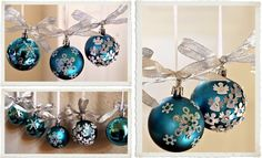 My Sister's Homemade Christmas Ornaments....Love, Peace and Happy Tresses...: DIY