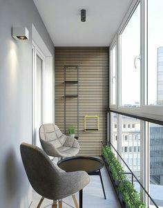 One Bedroom Apartment Interior Design Idea. One Bedroom Apartment Interior Design Idea. Small Balcony Design, Small Balcony Decor, Balcony Ideas, Balcony Plants, Balcony Garden, Modern Balcony, House Plants, Balcony House, Balcony Chairs