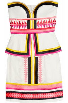 i like the aztec print along with a 50s style dress. very cool