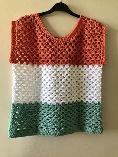 Crochet Shirt, Diy Crochet, Crochet Baby, Crochet Top, Easy Crochet Patterns, Baby Knitting Patterns, Crochet Stitches, Crochet Shawls And Wraps, Crochet Fashion