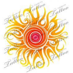 Tribal Sun by Dessins-Fantastiques on DeviantArt Sun Tattoo Designs, Sun Designs, Sun Mandala, Mandala Tattoo, Art Soleil, Art Surf, Sun Tattoo Tribal, Tattoo Moon, Sun Moon Stars