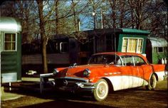Trailer Parks of Yesteryear We had a Buick just like this, color and all.