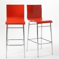 Chaise design coque translucide lot de 2 joan la - Chaise de bar la redoute ...