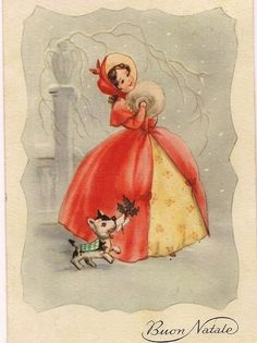 Vintage Stuff and Antique Designs French Christmas, Vintage Christmas Images, Christmas Past, Retro Christmas, Vintage Holiday, Christmas Pictures, Vintage Greeting Cards, Christmas Greeting Cards, Christmas Greetings
