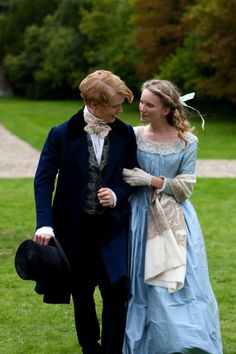 Edwin Drood and Rosa Bud - Freddie Fox and Tamzin Merchant in The Mystery of Edwin Drood, set in 1870(?) (TV film 2012).