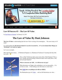 law-of-success-3-the-law-of-value-by-dani-johnson by Jean-Francois Gemme via Slideshare