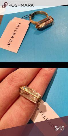 Silpada ring New! Beautiful crystal center stone. Silpada Jewelry Rings
