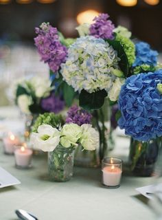 #Hydrangea and #Lisianthus #Centerpiece