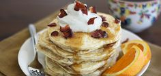 Coffee Bacon Pancakes? Yes Please! We made ours with a cup of Community Coffee.