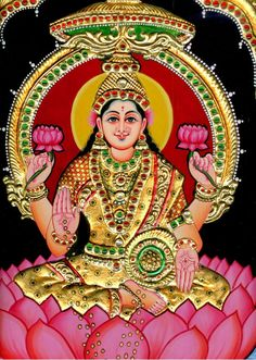 Goddess lakshmi brings success to hardworking and dedicated people who call on her.Though she is the goddess of wealth, one should not call on her with greed. Fridays are the best day for workshiping lakshmi. Paint Photography, Fine Art Photography, Indian Gods, Indian Art, 3d Art Painting, Art Paintings, Wonder Art, Lakshmi Images, Popular Paintings