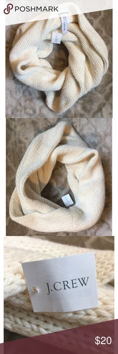 New J. Crew Off White Knitted Infinity Scarf New with tags/ off white/ Knitted infinity scarf J. Crew Accessories Scarves & Wraps
