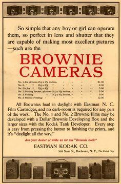 "1907 ""Youth's Companion"" ad. Brownie Cameras."