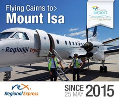 Happy 1st anniversary Regional Express flying between Cairns and Mt Isa