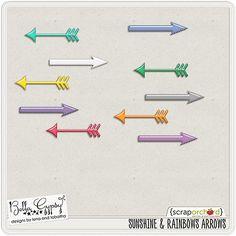 Quality DigiScrap Freebies: Sunshine & Rainbows arrows freebie from Bella Gypsy Designs