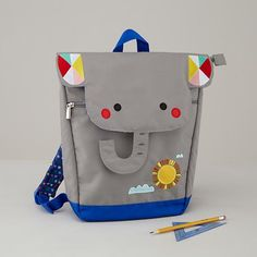Teacher's Pet Backpack (Elephant) / Designed by Michelle Romo / The Land of Nod