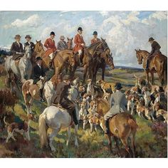 "Harold Septimus Power , 1878-1951 (New Zealand)  ""The Meet on the Moor"" oil on canvas"