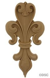 3 Sizes of our Fleur de Lis  series 5503F - manufactured by Decorators Supply, Chicago, Il  http://www.decoratorssupply.com/store/main.aspx?p=ItemDetailOptions&item=5505F&search=5505F