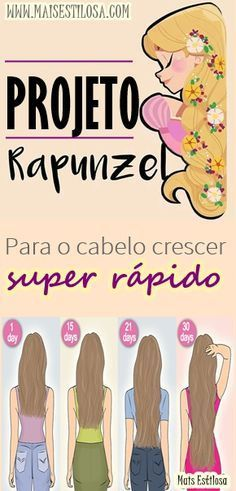 Aprenda como fazer o famoso projeto rapunzel para o seu cabelo crescer super rápido.