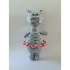 Ravelry: Oda the Hippo pattern by Tine NielsenThis is a crochet pattern, not the finished toy as shown in the photos. This PDF pattern comes with:best 25 crochet hippo ideas on crochet baby Crochet Hippo, Crochet Doll Pattern, Cute Crochet, Crochet Animals, Crochet Crafts, Crochet Dolls, Crochet Projects, Cactus Amigurumi, Mini Amigurumi
