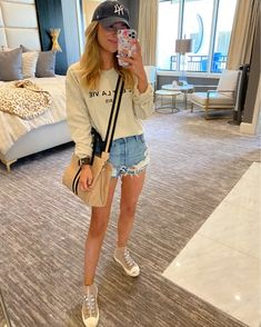 Summer Wear, Clothing Items, Denim Skirt, Casual Outfits, Women's Fashion, Pullover, Clothes For Women, Skirts, How To Wear