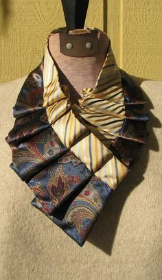 Silk Necktie Necklace Repurposed Silk Necktie by TieTandem