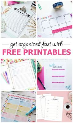 10 Gorgeous Free Printables to get organized with