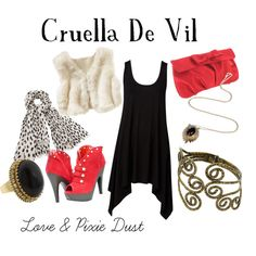 """Cruella De Vil"" by loveandpixiedust on Polyvore"