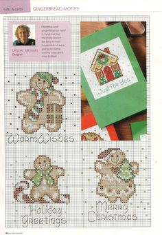 Selection Box - Christmas Cards (Gingerbread Motifs)