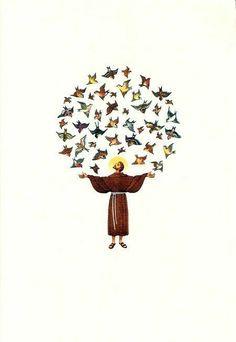 Pin on Francesco Catholic Art, Catholic Saints, Patron Saints, Religious Art, Christian Images, Christian Art, Francis Of Assisi, St Francis, Ste Claire