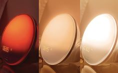 Changing Colors of a sunlight alarm clock. A nature way to wake up.
