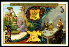 Chicoree - Drinks  -Tea. French tradecard c1900.