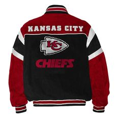 NFL Kansas City Chiefs Suede Leather Football Jacket Officially ...
