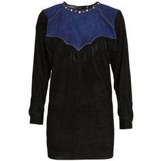Isabel Marant Oklyne studded suede shirt with fringes ($610) ❤ liked on Polyvore
