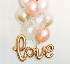 LOVE is Sweet! :) You can get so creative with this balloon! It is a one piece Centerpiece all on its own! Perfect for a photo prop as an Engagement Photo, a Shower Decoration & More! THIS IS AN AIR FILL ONLY BALLOON, it will NOT FLOAT even if helium is added! Listing includes: 1 GOLD