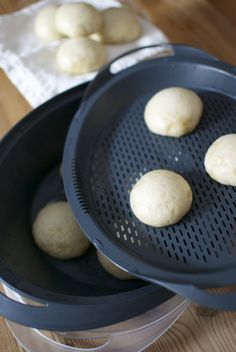 Panecillos al vapor, receta china con Thermomix « Thermomix en el mundo Asian Cooking, Cooking Time, Cooking Recipes, Food N, Food And Drink, Wok, Pan Bread, Sin Gluten, Asian Recipes