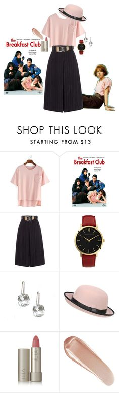 """""""Claire Standish--Molly Ringwald--THE BREAKFAST CLUB"""" by katxenos on Polyvore featuring WithChic, Lost Ink, Larsson & Jennings, Pilot, Ilia and NARS Cosmetics"""
