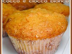 Ricetta Dessert : Muffin di cioccolato bianco, riso soffiato e cocco da Dolcetto