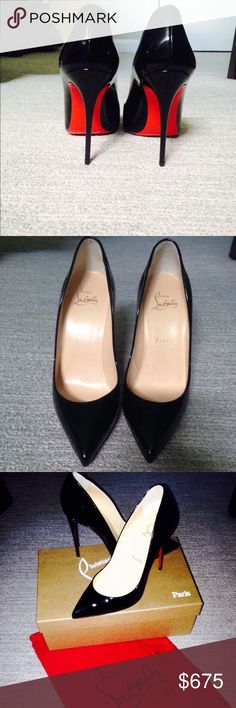 Christian Louboutin Pigalle  - Size 37 (US 7) BRAND NEW, Never Worn!  Christian Louboutin Pigalle Follies 100 patent leather pumps. Black. Size 37.   Box and shoe bag included. Christian Louboutin Shoes Heels