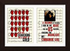 Neil Young Inspired Heart Of Gold Cinnamom Girl Double Print Ready To Frame Mounted /Matted Sheet Music Art Print. This deal is for 2 song lyrics from your favourite singers/ bands Mounted /Matted and Printed on random vintage Sheet Music Page. Page size 180mm x 135 mm / 6.75 x 5.25 inches with DOUBLE mat/mount opening 120 mm x 160 mm / 6.25 x 4.25 inches. Every print comes with a mat/mount which means the final product is 297mm x 210mm / 11.75 x 8.25 inches. You can mix and match your...
