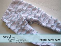 Tiered Ruffle Leggings Tutorial
