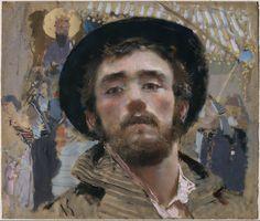 Francesco Paolo Michetti (Italian, 1851-1929), Autoritratto, c.1877. Tempera and pastel on paper, 49 x 55 cm.