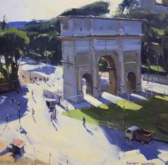 Colley Whisson     The Arch of Constantine, Rome Oil 2014