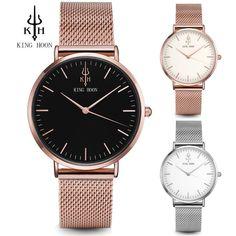 2018 Women Watches Top Luxury Brand Rose Gold Silver Leather Steel Quartz  Wrist Watch decaa70e3b3