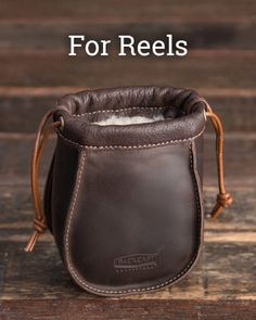 The new Small Reel Bag is made with full grain leather and lined with sheepskin to keep that prized reel safe and dry. Come get a look at the rest of our hunting and fishing line-up by tapping the link in our bio  #FlyFishingAddict #ReelBag #CatchAndRelease #BetterWithAge #LeatherGoods #SaddlebackLeather