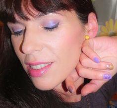 lapinturera - Blog de cosmética, maquillaje y belleza.: Flores de invierno: Hoy, Caléndula morada (look, manicura y outfit).