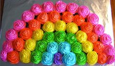 colorful rainbow cupcakes for a unicorn party! colorful rainbow cupcakes for a unicorn party! colorful rainbow cupcakes for a unicorn party! Trolls Birthday Party, Troll Party, Rainbow Birthday Party, Unicorn Birthday Parties, 5th Birthday, Birthday Ideas, Girl Birthday Cupcakes, Rainbow Unicorn Party, Birthday Celebration