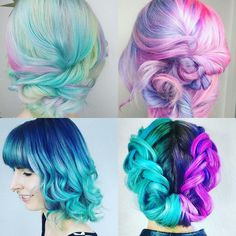 Unicorn Hair I love the top two