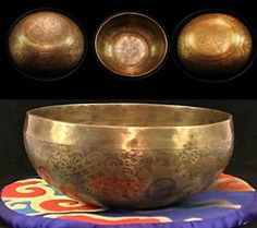 Tibet Hand Carved 12.5cm Singing Bowl - 400-550g