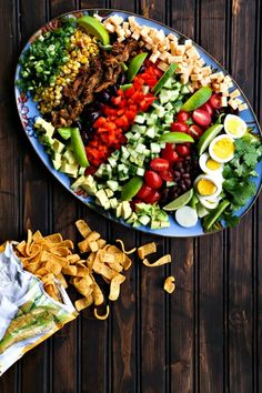 Super fresh entree dinner Tex Mex Cobb Salad from foodiewithfamily.com